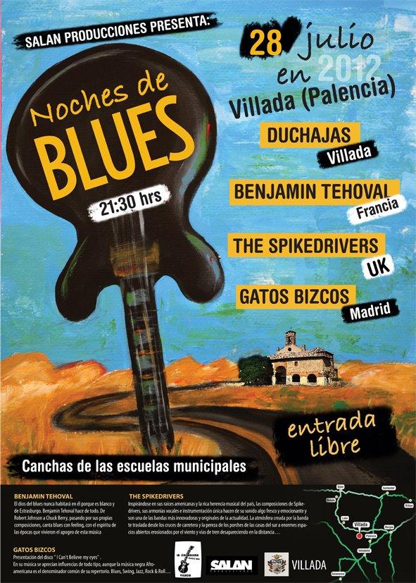 Noche de Blues en Villada. Sábado 28 de Julio