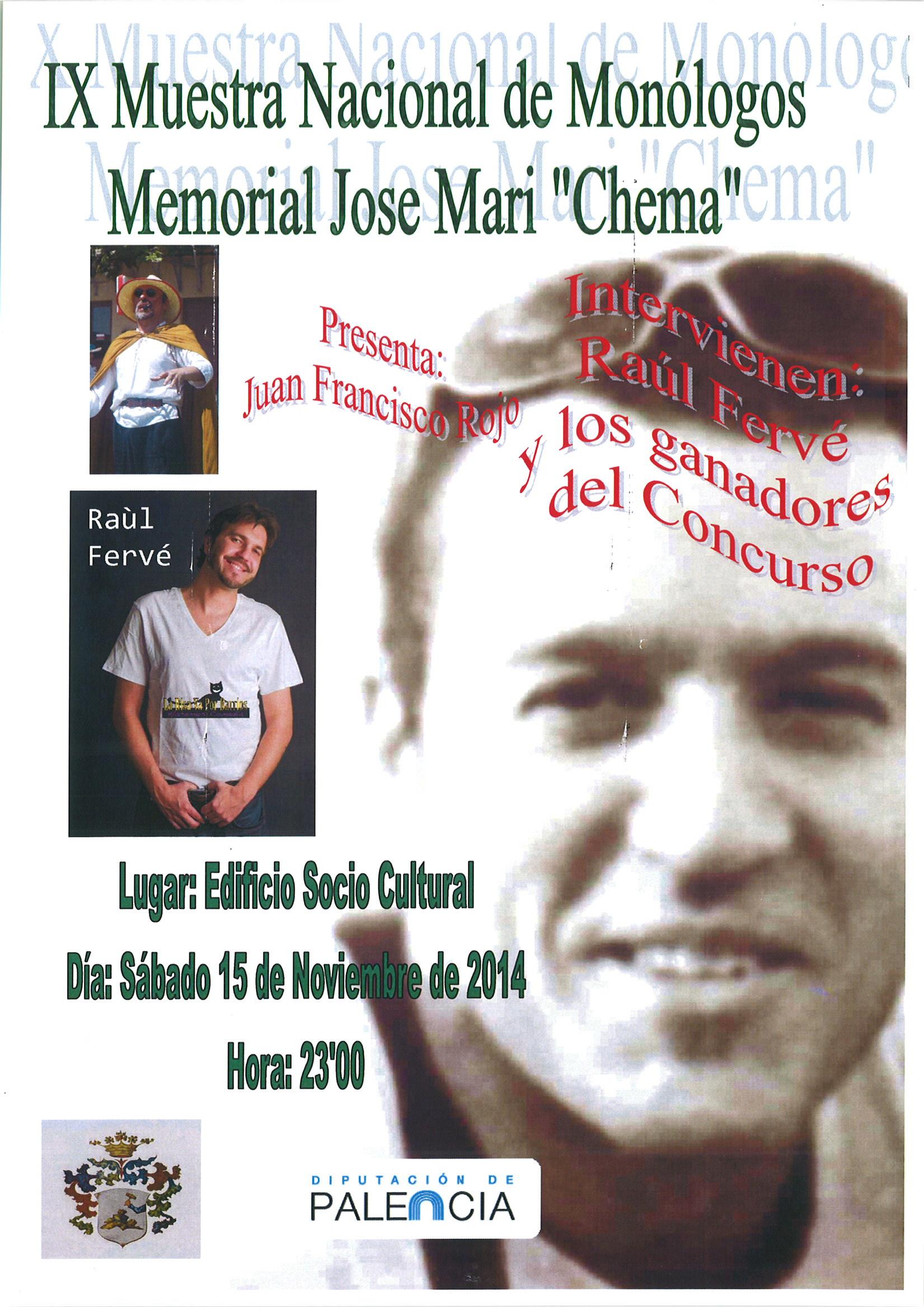 IX Muestra Nacional de Monólogos Memorial José Mari «Chema».
