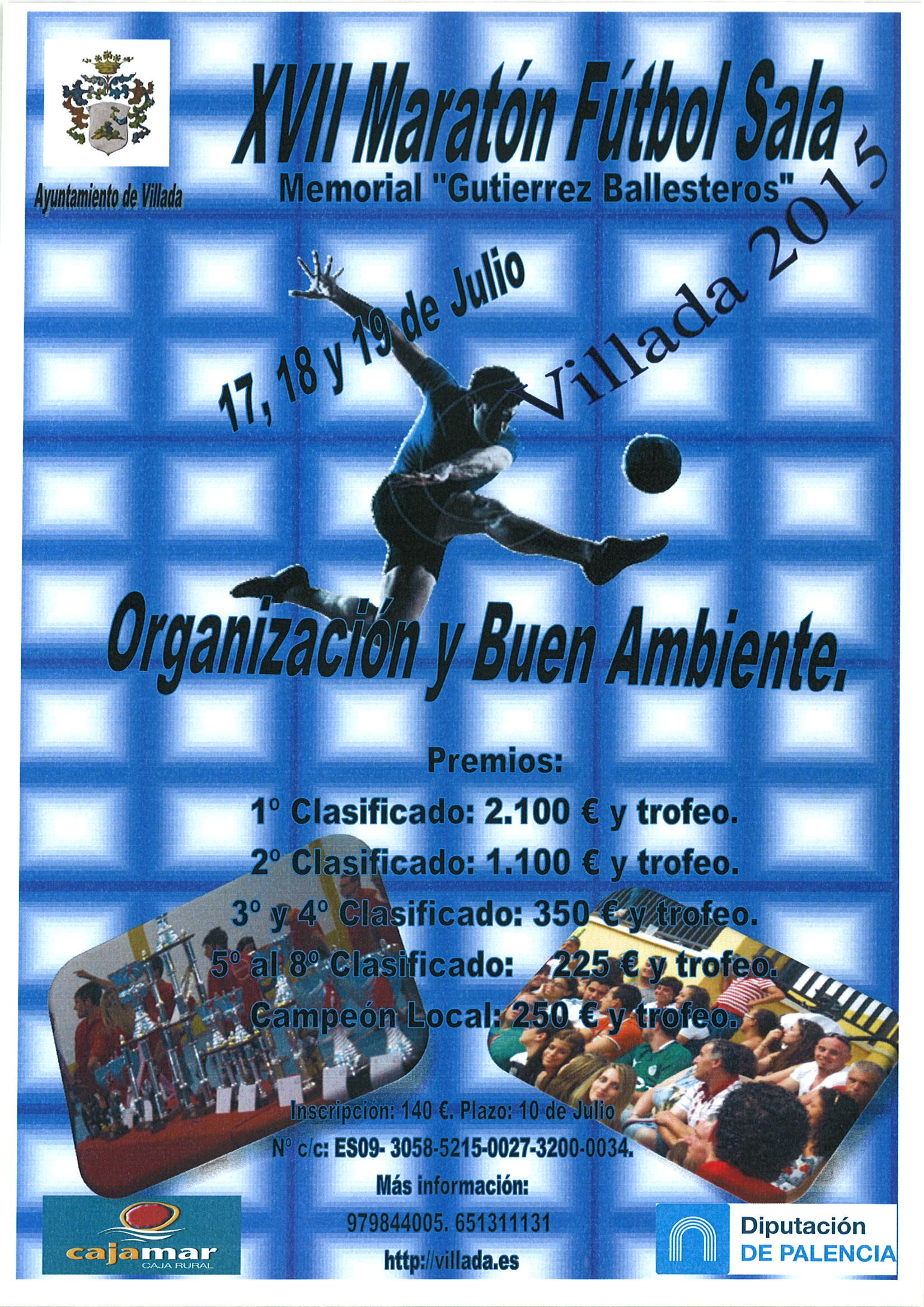 XVII Maratón Fútbol Sala. Memorial «Gutiérrez Ballesteros»