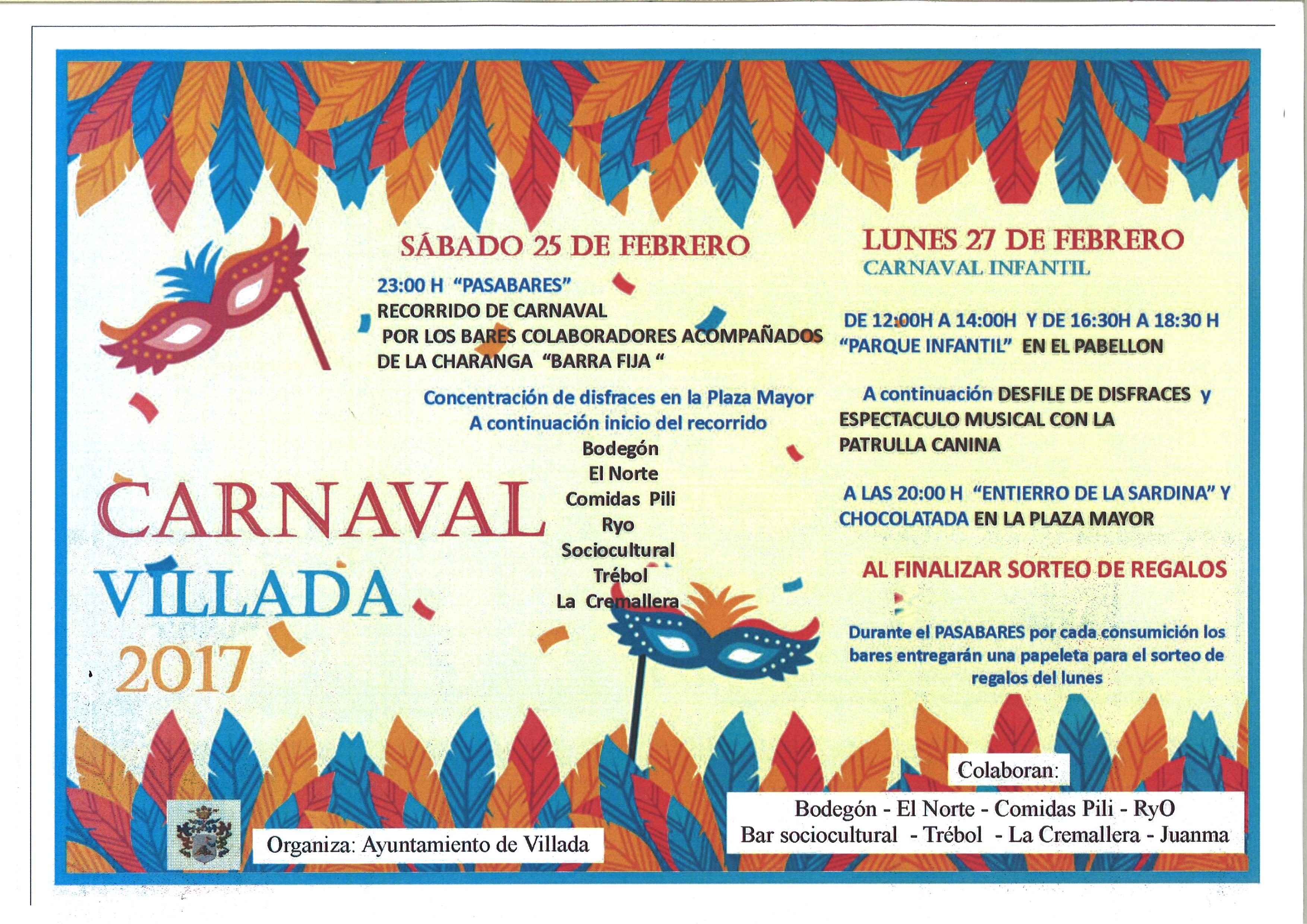 Carnaval 2017. 25 y 27 de Febrero.