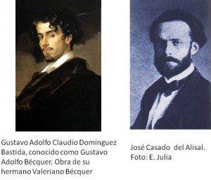 Artículo periodístico sobre la relación de José Casado del Alisal y Gustavo Adolfo Becquer