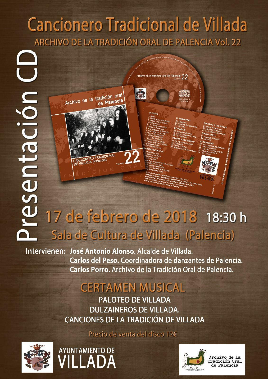 Presentación del CD Cancionero Tradicional de Villada.